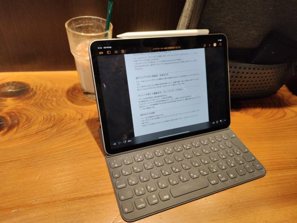 iPad Proで仕事中の写真