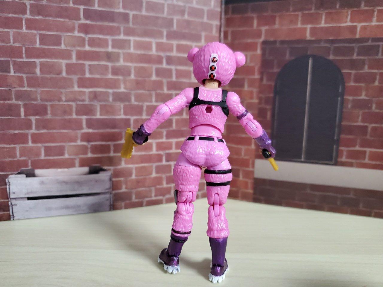 ピンクのクマちゃん背面