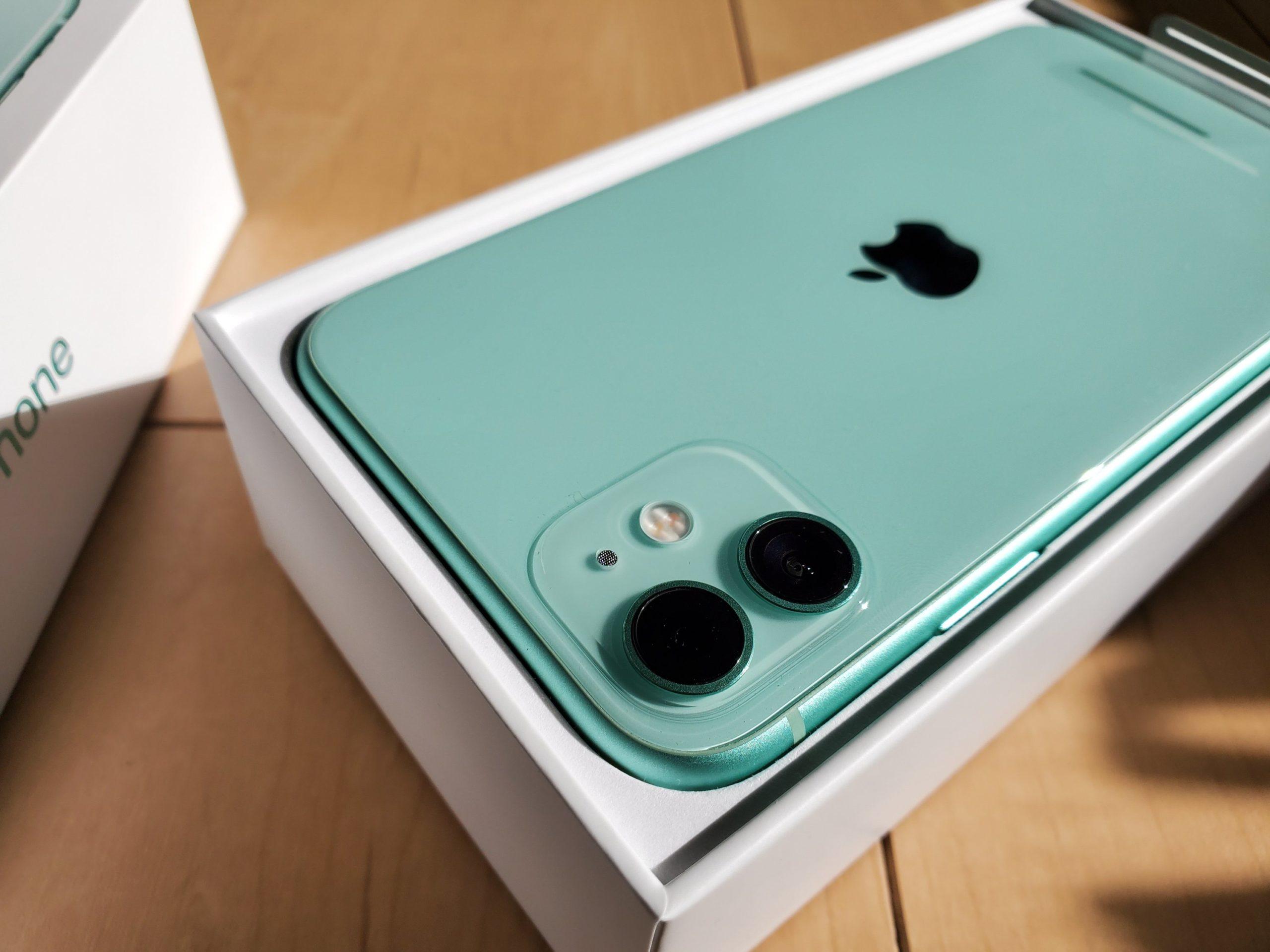 iPhone 11のカメラレンズ