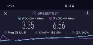 UQモバイルのお昼の速度