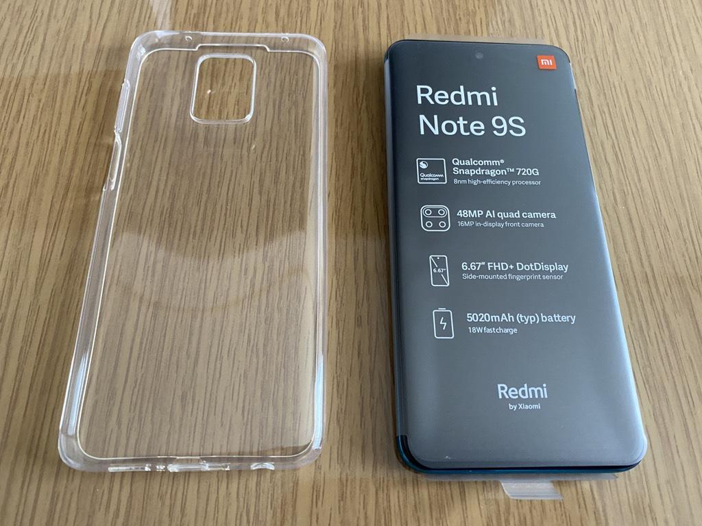 Redmi Note 9S付属カバー