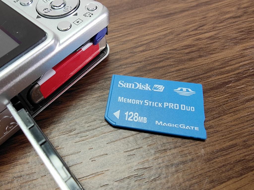 DSC-W110メモリースティック