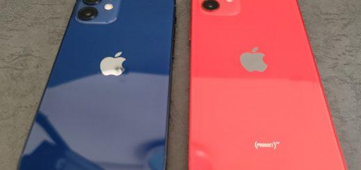 iPhone 12 miniと無印を比較