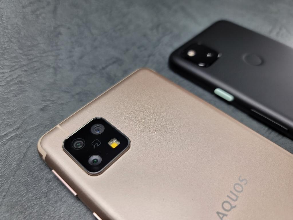 Pixel 4aとAQUOS sense4カメラ