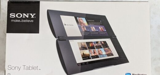 Sony Tablet P外箱