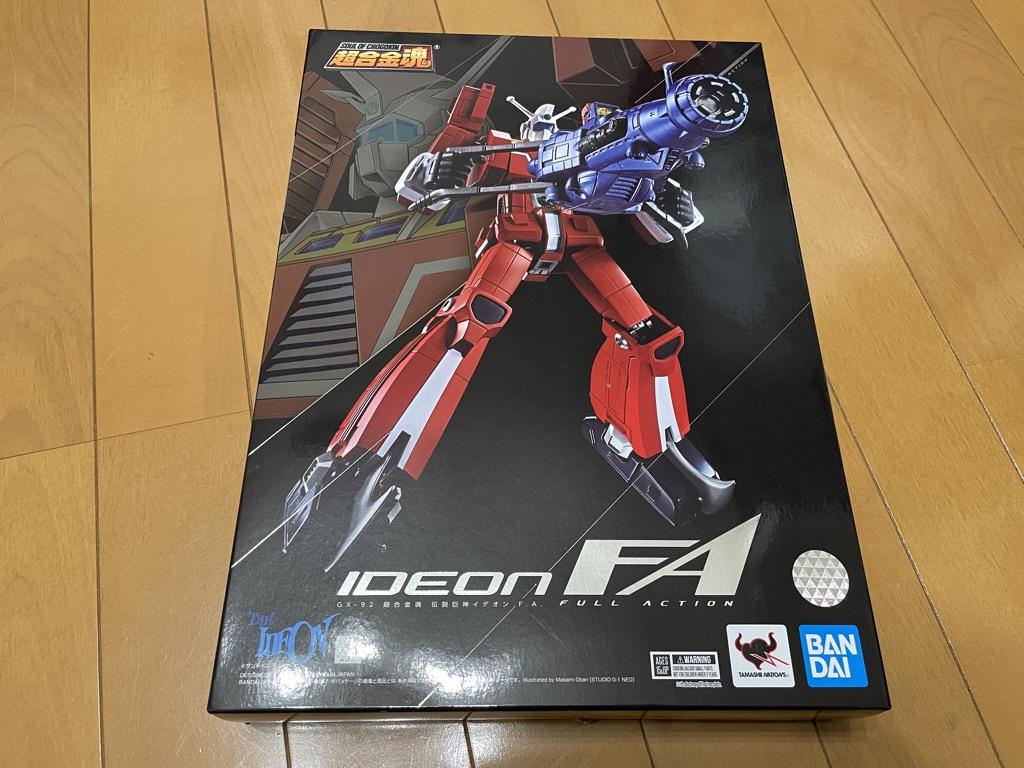 超合金魂 伝説巨人イデオン GX-92 伝説巨神イデオン F.A.外箱