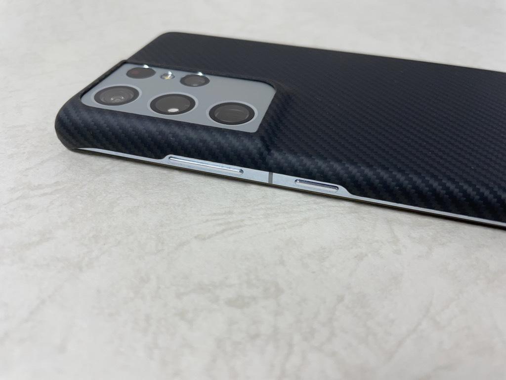 Galaxy S21 Ultra Air Case側面装着時