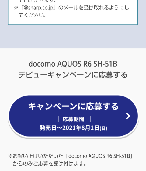 AQUOS R6申込み3