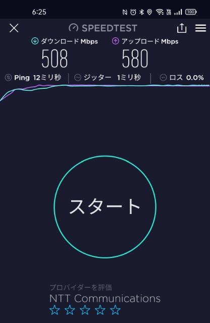 OCN光速度